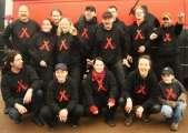 Die BLECHLAWINE 2008 im neuen Kapuzenshirt
